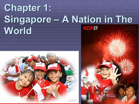Chapter 1: Singapore – A Nation in The World. What will you be learning today?  What does it mean to be a nation?  What were the challenges Singapore.