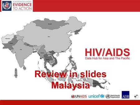HIV and AIDS Data Hub for Asia-Pacific Review in slides Malaysia.