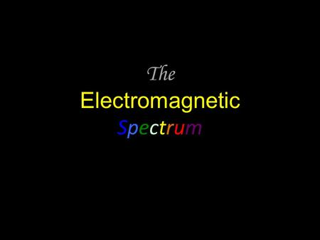 The Electromagnetic Spectrum. Do Now Create a VENN Diagram or DOUBLE BUBBLE Thinking Map. Compare/Contrast TRANSVERSE waves and COMPRESSIONAL waves. Class.