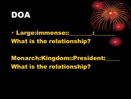 doa relationship