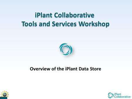 IPlant Collaborative Tools and Services Workshop iPlant Collaborative Tools and Services Workshop Overview of the iPlant Data Store.