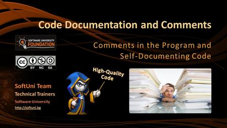 Code Documentation and Comments