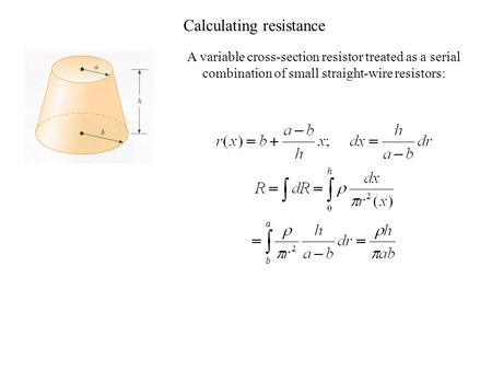 Calculating resistance