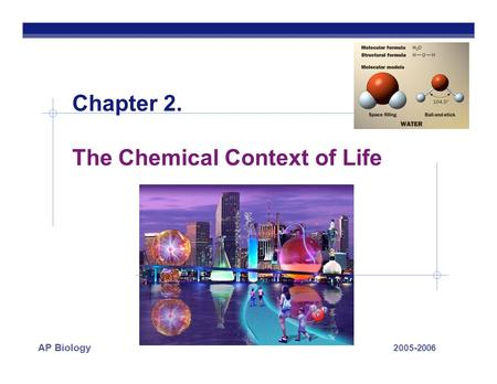 2005-2006 AP Biology Chapter 2. The Chemical Context of Life.