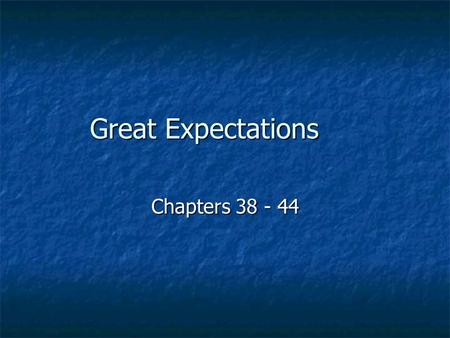 great expectations essay notes