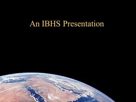 IBHS Institute for Business & Home Safety An IBHS Presentation.
