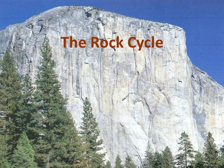The Rock Cycle. Rock Cycle A. Shows the relation among the three rock types B. Proposed by James Hutton in late 1700s.