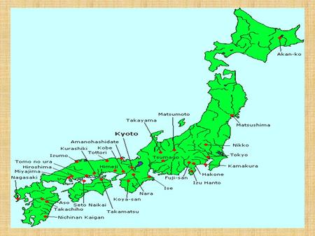 The Emergence of Japan Located on an Archipelago – chain of islands  Hokkaido, Honshu, Kyushu, Shikoku 4/5 th covered in mountains – people settle in.