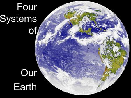 Four Systems of Our Earth. Composition of Earth Earth Has 4 main systems that interact: Earth's systems Atmosphere Air/gases Hydrospher e water Biosphere.