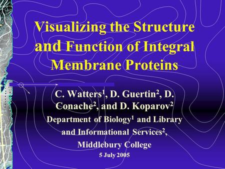 Visualizing the Structure and Function of Integral Membrane Proteins