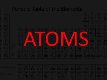 ATOMS. Phet Simulation: Build an Atom 1.What particle determines what element you have? 2.What particle(s) can change without changing the identity of.