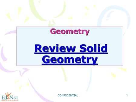 Geometry Review Solid Geometry