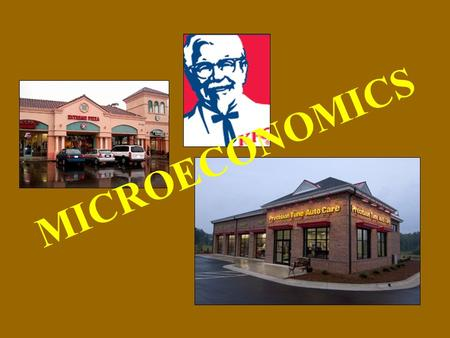MICROECONOMICS. Microeconomics The study of behavior and decision making by small units: –Individuals –Companies/Corporations/Firms.