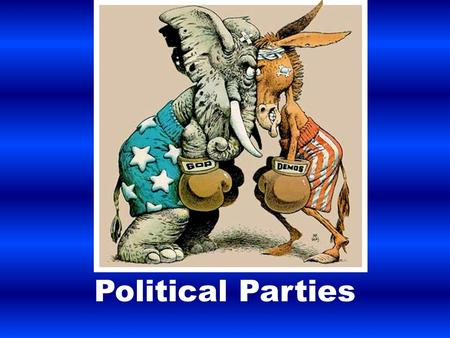 Political Parties. What is a political party? A group of people who share the same beliefs about government.