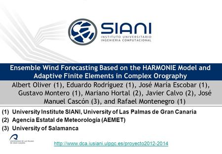 Ensemble Wind Forecasting Based on the HARMONIE Model and Adaptive Finite Elements in Complex Orography.