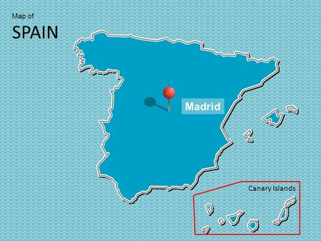 Map of SPAIN Canary Islands Madrid. Map of SPAIN Canary Islands.