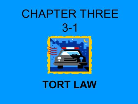 unit 1 tort law Law of torts i armidale, trimester 1, on campus unit description this unit provides a general introduction to tort law a more specific objective is to give students the learning tools needed to achieve an understanding of the law of negligence, covering the duty of care, standard of care, breach of duty,.