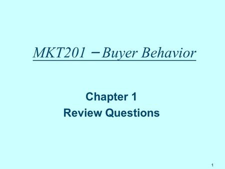 Chapter 1 Review Questions