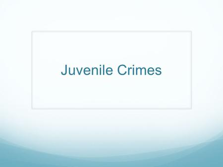 Juvenile Crimes. North Carolina In North Carolina, you are considered an adult at the age of 18, however you can still be charged as an adult at 16 and.