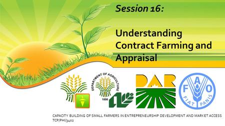 Understanding Contract Farming and Appraisal
