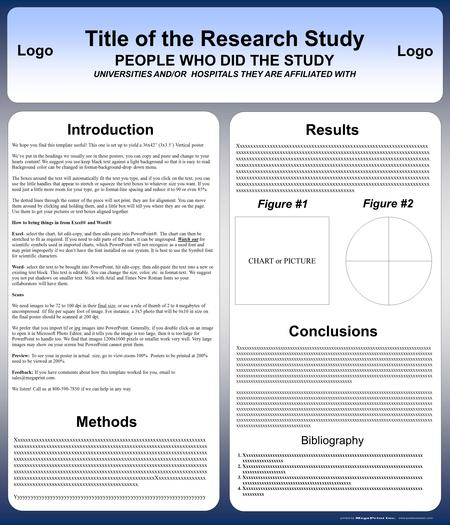 "We hope you find this template useful! This one is set up to yield a 36x42"" (3x3.5') Vertical poster. We've put in the headings we usually see in these."