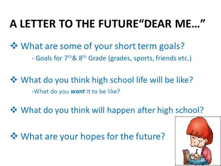 "A LETTER TO THE FUTURE""DEAR ME…"""