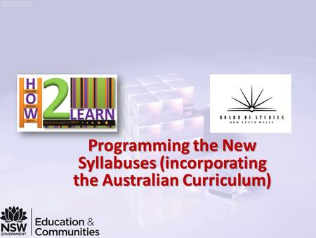Programming the New Syllabuses (incorporating the Australian Curriculum)