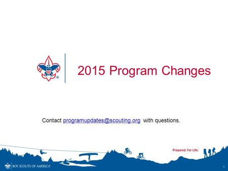 Contact with 2015 Program Changes 1.