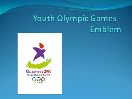 Youth Olympic Games - Emblem