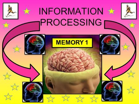 INFORMATION PROCESSING MEMORY 1. WE ARE LEARNING TO... Understand the concept of selective attention and ways of improving it Identify the different parts.