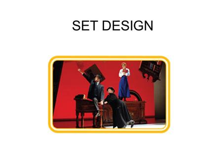 SET DESIGN. Proscenium Arch Audience sits in front of the stage.