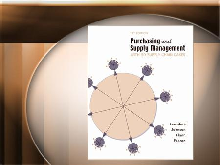 Chapter 20 Strategy in Purchasing and Supply Management.