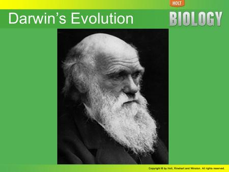 Darwin's Evolution. Section 1 The Theory of Evolution by Natural Selection Darwin Proposed a Mechanism for Evolution Science Before Darwin's Voyage Lamarck.