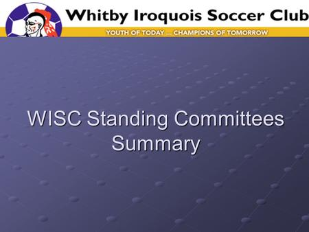 WISC Standing Committees Summary. Why Standing Committees? Continuous improvement or key club activities Expands the clubs ability to execute beyond basics.