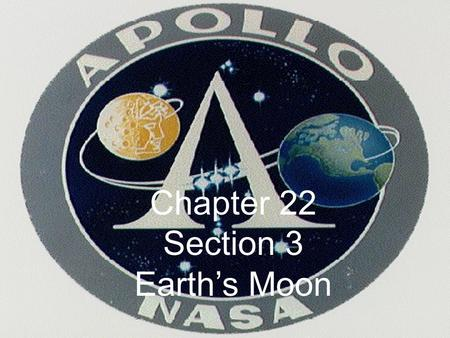 Chapter 22 Section 3 Earth's Moon. Earth vs. Moon 3,475 km 12,756 km Earth has 1 natural satellite  the Moon No specific name other than Moon Unusual.