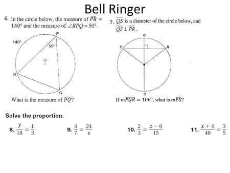 Bell Ringer 6. 7.. Similar Polygons Two polygons are similar polygons if corresponding angles are congruent and corresponding side length are proportional.