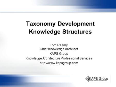 Taxonomy Development Knowledge Structures