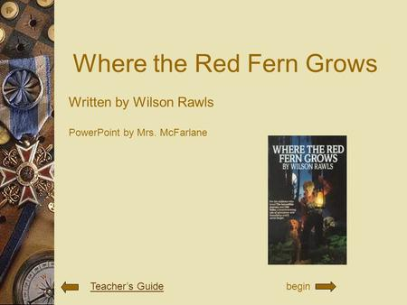 Where the red fern grows by wilson rawls book report
