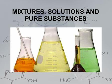 MIXTURES, SOLUTIONS AND PURE SUBSTANCES. Matter and its appearance  According to its appearance, there are two kinds of material systems:  Homogeneous.