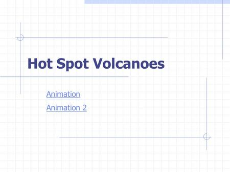 Hot Spot Volcanoes Animation Animation 2.