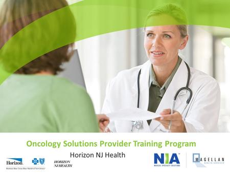 Oncology Solutions Provider Training Program