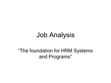 foundation of hrm Division of human resource management (hrm) division director:  empowered nsf workforce needed to accomplish the foundation's mission of promoting the progress of.