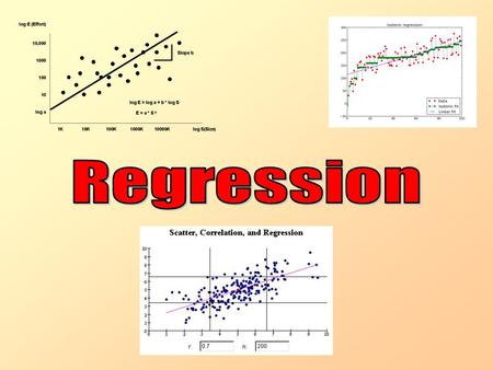 Regression This Chapter is on Regression We will learn the difference between dependent and independent variables We will be looking at the line of best.