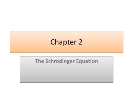 Chapter 2 The Schrodinger Equation.  wave function of a free particle.  Time dependent Schrodinger equation.  The probability density.  Expectation.