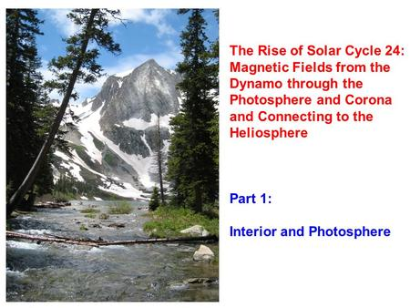 The Rise of Solar Cycle 24: Magnetic Fields from the Dynamo through the Photosphere and Corona and Connecting to the Heliosphere Part 1: Interior and Photosphere.