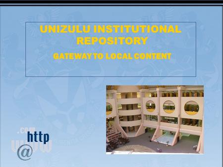 UNIZULU INSTITUTIONAL REPOSITORY GATEWAY TO LOCAL CONTENT.