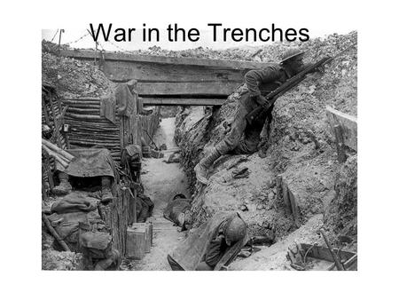 War in the Trenches. 2 Hindenburg Line Crucial stronghold Formidable barrier to Allied advances Operation Alberich Generals Hindenburg and Lundendorff.