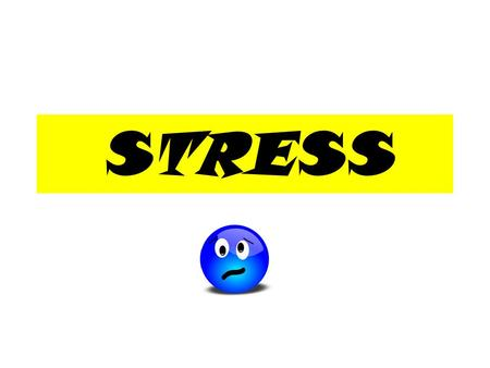 STRESS. No one else has as much stress as I do! FALSE You're not alone…everyone experiences stress!