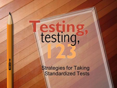 Strategies for Taking Standardized Tests 'Twas the Night Before Testing Make sure you get enough sleep. Review the CST prep materials in a timely manner.