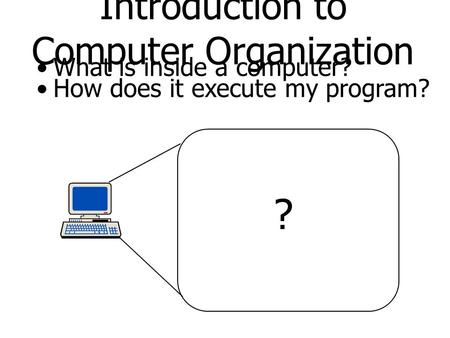 Introduction to Computer Organization